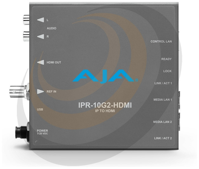 AJA Single Channel SMPTE ST 2110 Video and Audio IP Decoder to HDMI - Image 1