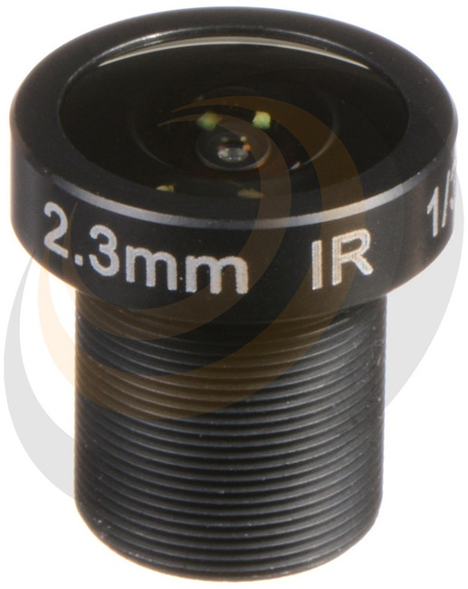 2.3mm F2.2 3MP M12 PRIME LENS - approx. Horizontal AOV = 126°  - Image 1
