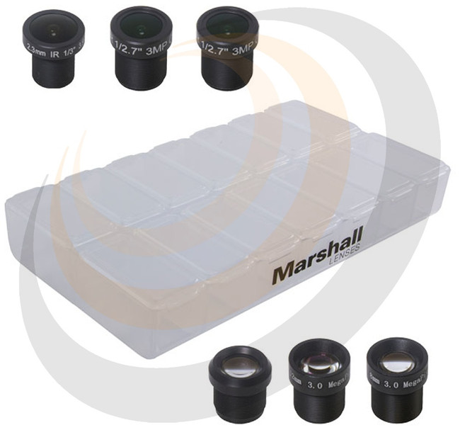 6x mini-M12 lens variety pack with 2.3mm, 2.8mm, 6.0mm, 8.0mm, 12.0mm, and 16.0mm - Image 1