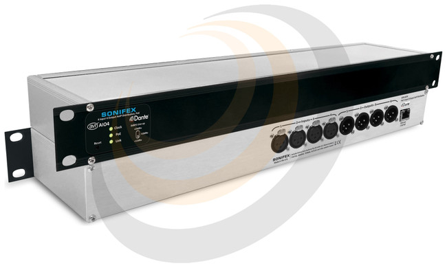Sonifex 4 Input, 4 Output Dante® Interface, PoE - Image 1
