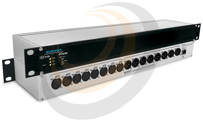 Sonifex 8 Input, 8 Output Dante® Interface, PoE - Image 1