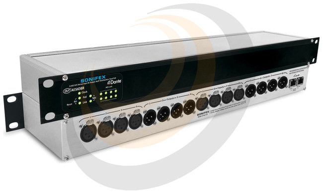 Sonifex 8 AES3 Input, 8 AES3 Output Dual Dante® Interface, PoE - Image 1