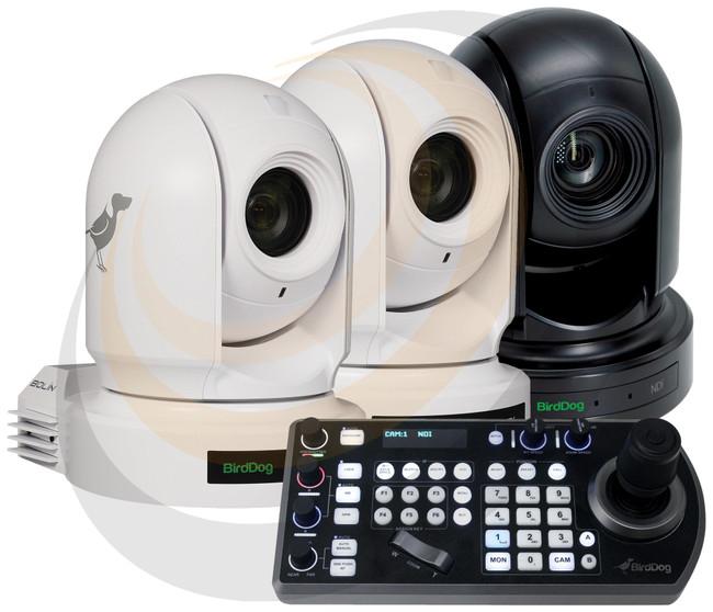 BirdDog 2x P200 White, 1x P2000 Black, and 1x FREE PTZ Keyboard - Image 1