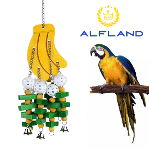 Bird Toys with Bells (Banana)