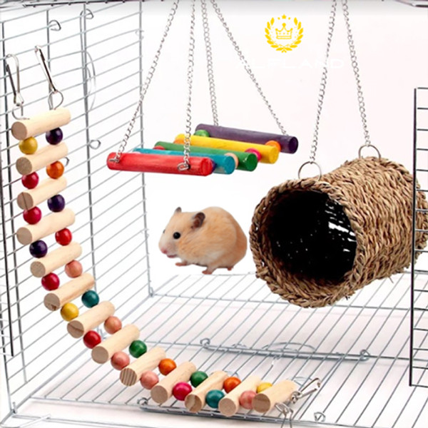 Pack 3 Wooden Hamster Toys