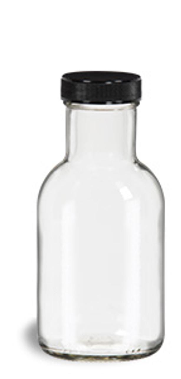 c2e4cac9994d 8 oz Round Stout Bottle with Black Cap