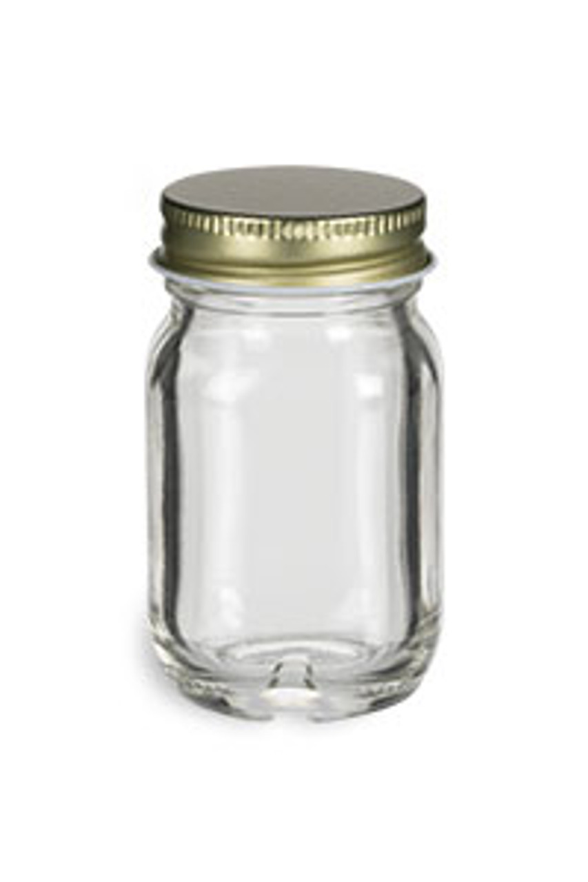 50 ml (1 7 oz) Mayberry Glass Jar with Gold Lid