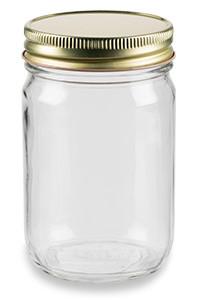 6b783a7939f8 12 oz Eco Mason Glass Jar with Gold Lid