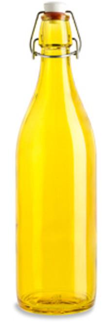 Yellow Glass Bottle w/Swing top, 34 oz Specialty Bottle