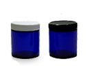 Blue Glass Cosmetic Jars
