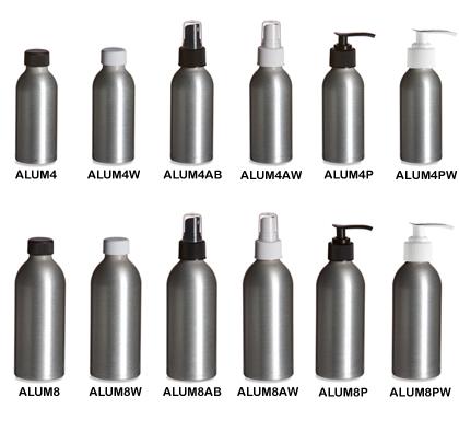 Brushed Aluminum Bottles