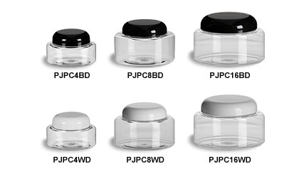 Clear Oval Jars with Dome Lids