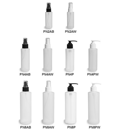 Natural HDPE Plastic Bottles with Pumps