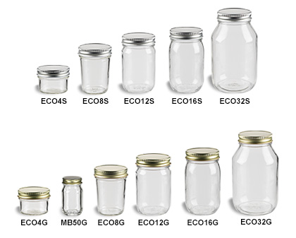 Mason Jars (Canning Jars) with Standard Lids