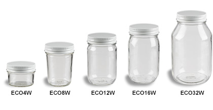 Mason Jars (Canning Jars) with White Standard Lids