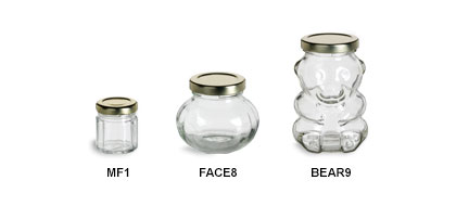 Faceted Jars with Gold Lids