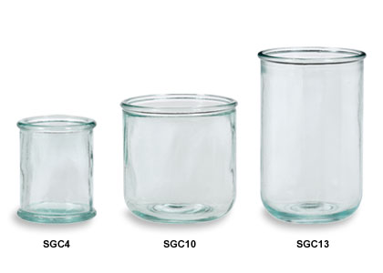 Spanish Recylced Glass Candle Jars