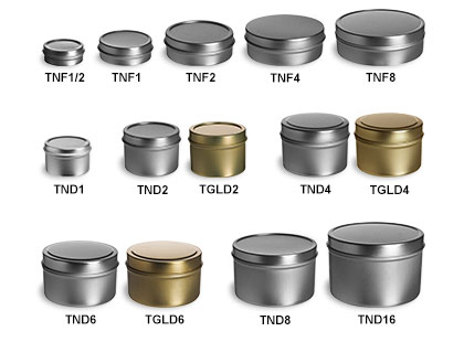 Deep & Flat Tin Containers