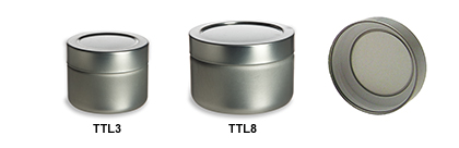 Twist Lug Tin Containers