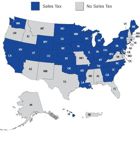 Sales Tax States