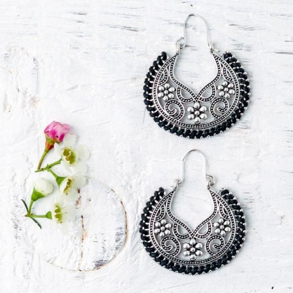 Emma Black Earrings