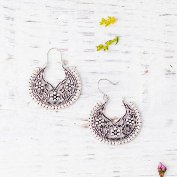 Emma White Earrings
