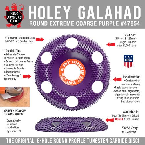 47854 HOLEY GALAHAD - ROUND EXTREME COARSE PURPLE