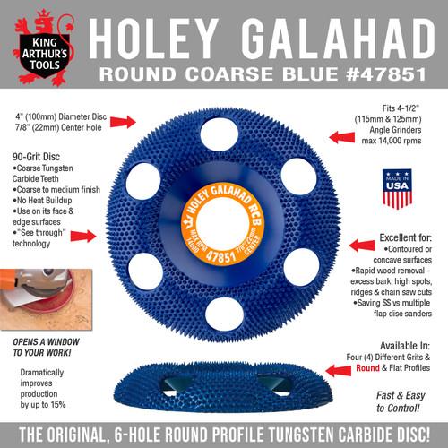47851 HOLEY GALAHAD - ROUND COARSE BLUE