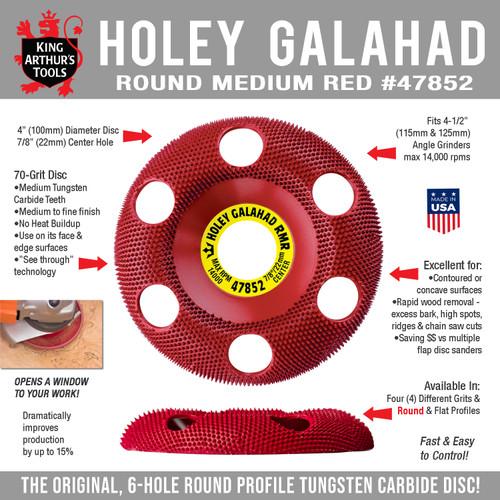 47852 HOLEY GALAHAD - ROUND MEDIUM RED