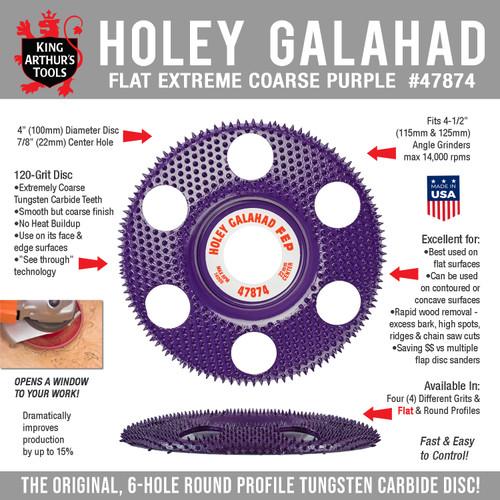47874 HOLEY GALAHAD - FLAT EXTREME COARSE PURPLE