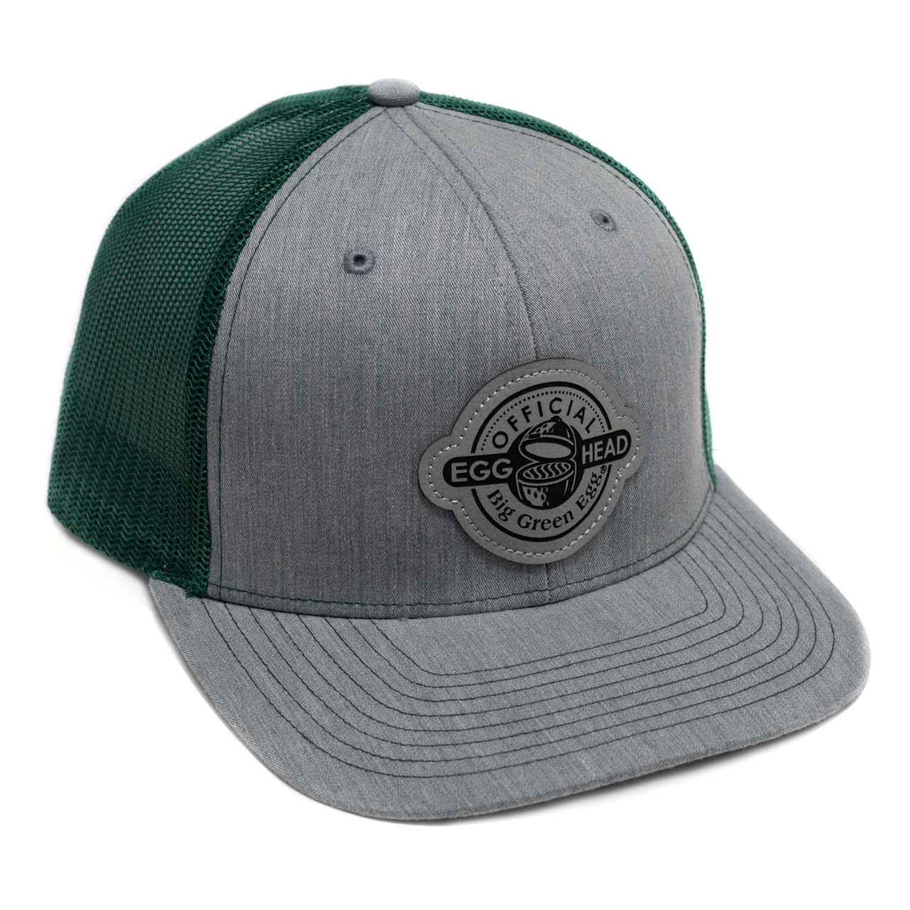 Green Leather Patch Baseball Cap