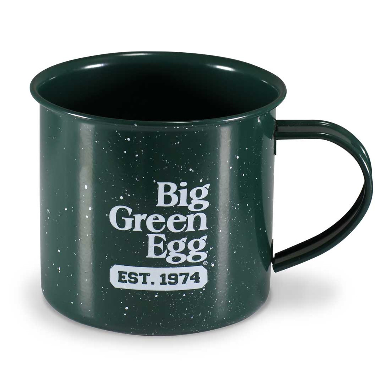 16 oz Campfire Mug, Green This lightweight, enamel mug is perfect for camping, tailgating, picnics, as well as everyday use. Ideal for warm drinks, soups, cereal and more.