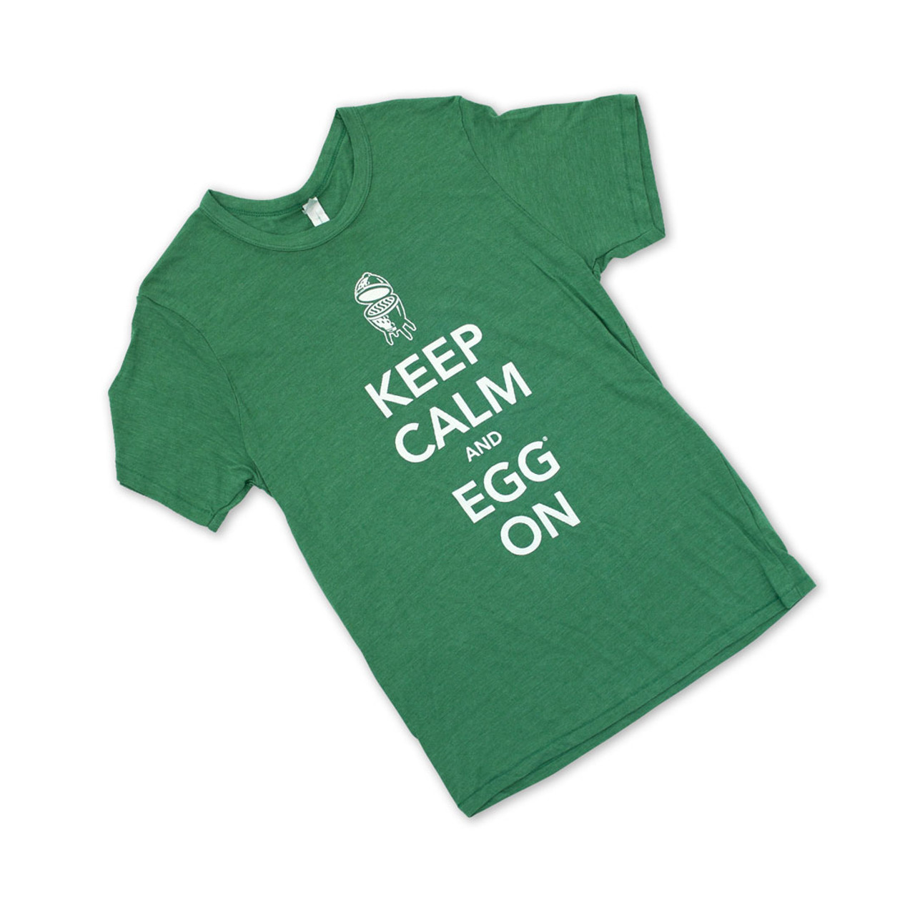 Keep Calm and EGG On T-Shirt, Green