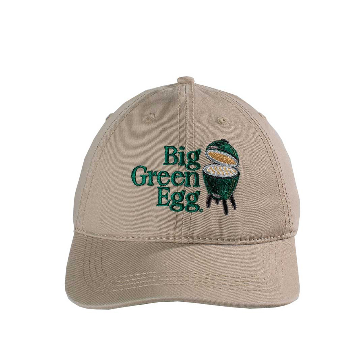 Big Green Egg Relaxed Logo Cap – Khaki - front view