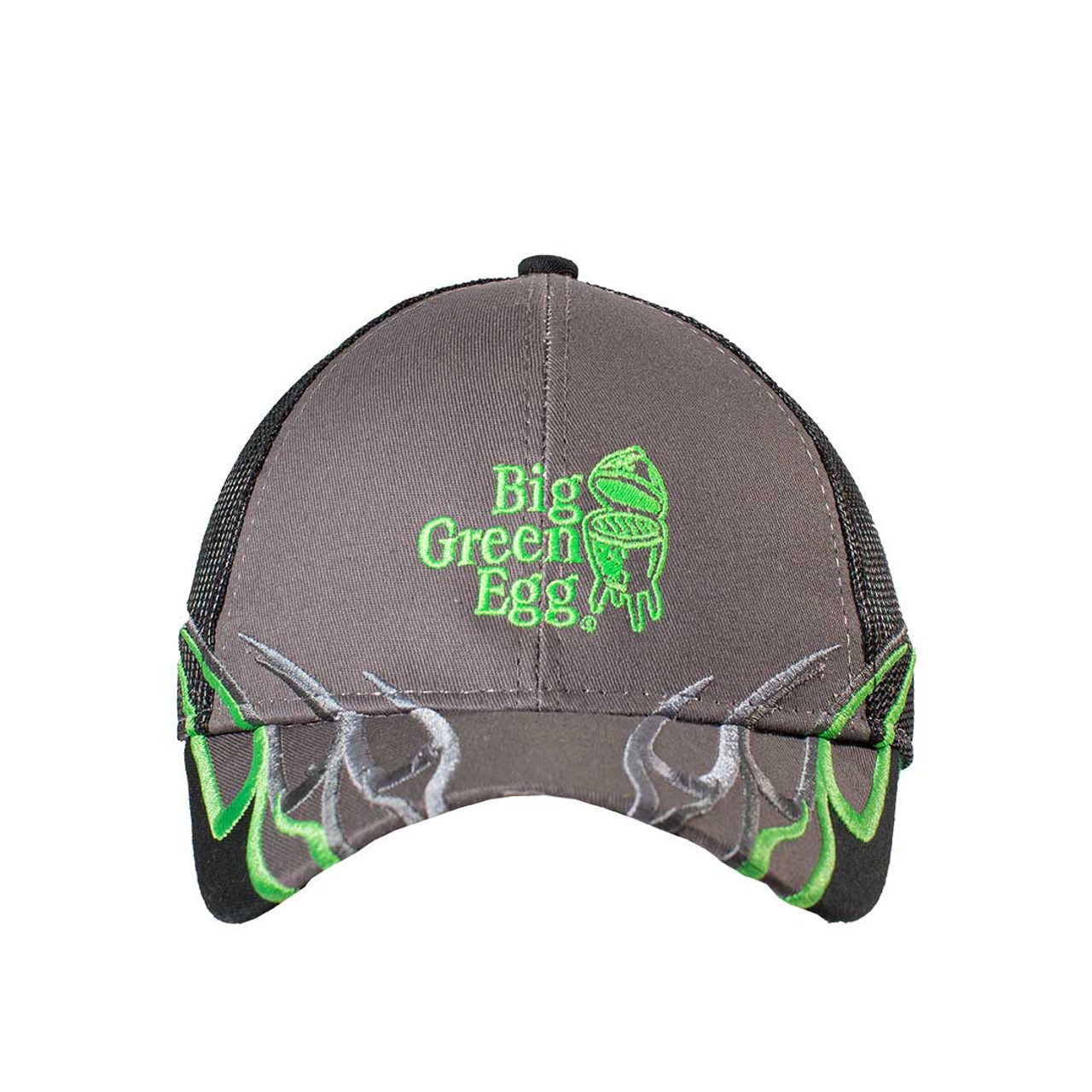 Big Green Egg Charcoal/Green Flame Cap - Front View