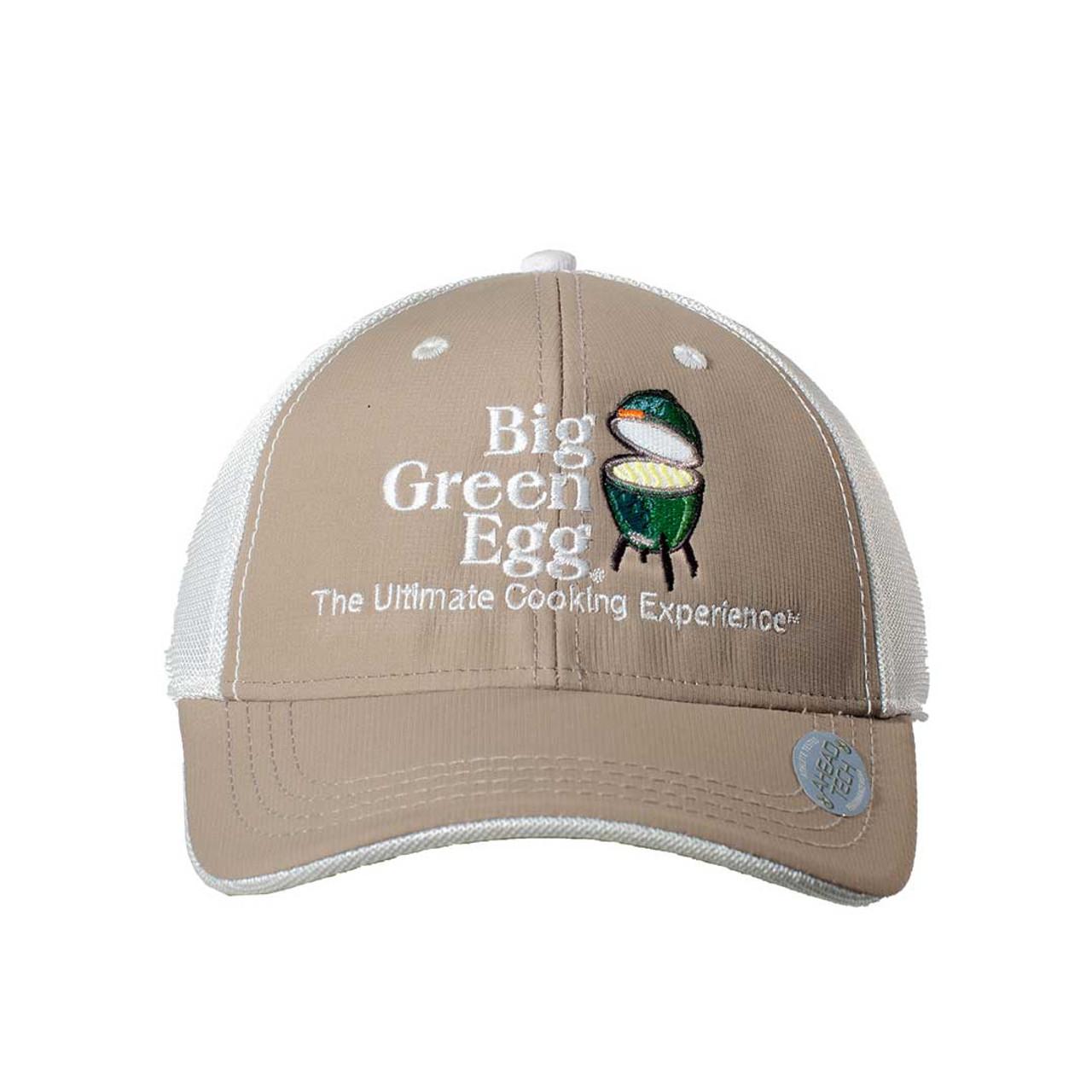 Big Green Egg UPF 50+ Logo Cap – Khaki/White - Front View