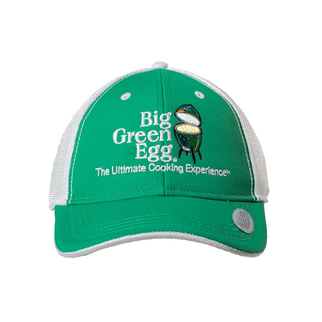 Big Green Egg UPF 50+ Logo Cap – Green/White - Front View