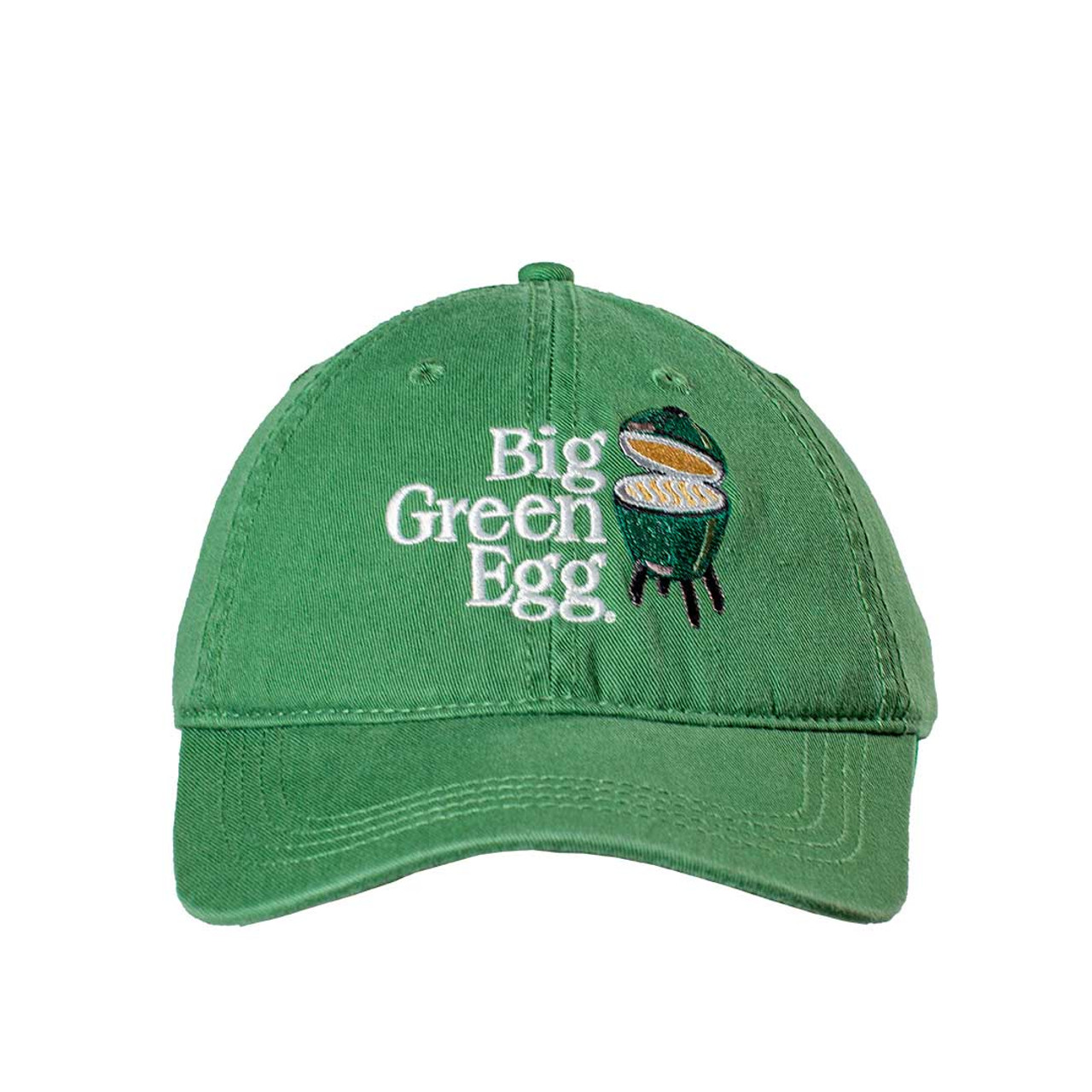 Big Green Egg Relaxed Logo Cap – Green - Front View