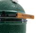 view of Xlarge big green egg handle and temperature gauge