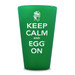 """Everlasting Emerald Silipint glass from big green egg """"Keep Calm and Egg On"""""""