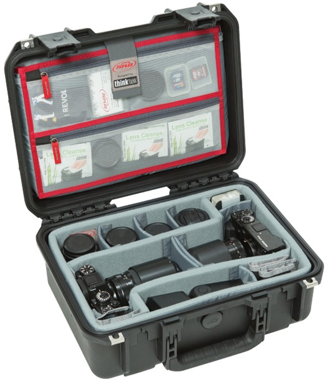 SKB iSeries 1510-6 Case with Think Tank Designed Photo Dividers and Lid Organizer
