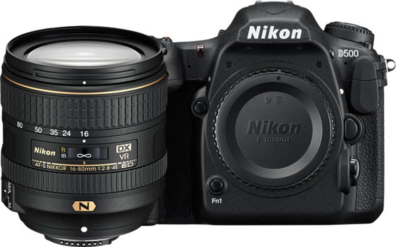 Nikon D500 DSLR Camera with AF-S DX Nikkor 16-80mm VR Lens - Black