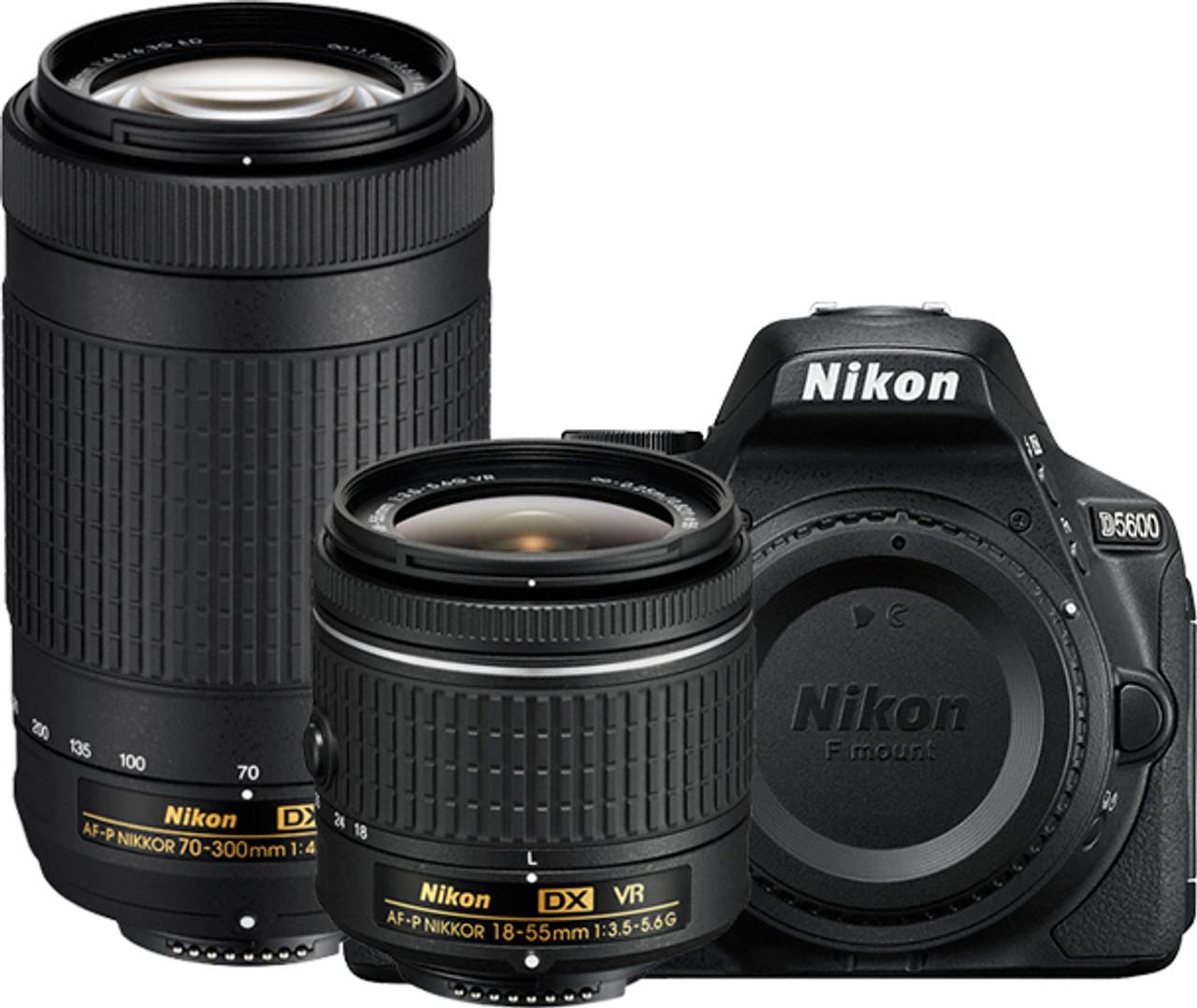 Nikon D5600 Two Lens Kit - AF-P DX Nikkor 18-55mm VR and AF-P DX Nikkor 70-300mm