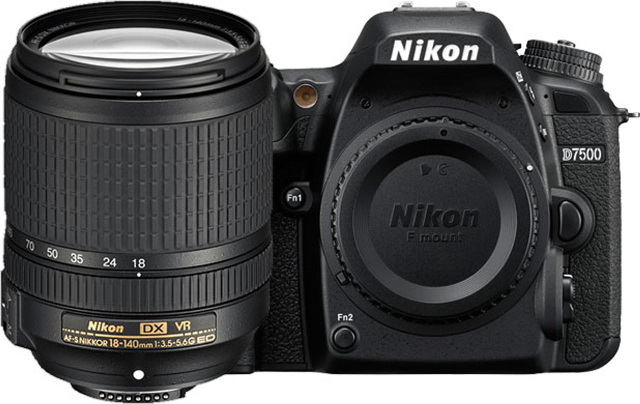 Nikon D7500 DSLR Camera with AF-S 18-140mm ED VR Lens - Black