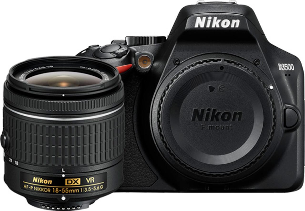 Nikon D3500 Digital SLR Camera with AF-P 18-55mm F3.5-5.6G VR Lens