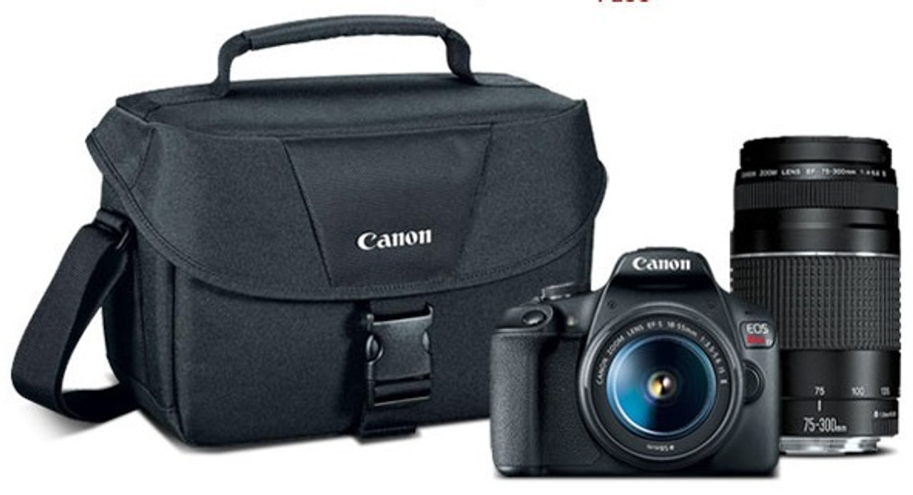 Canon EOS Rebel T7 Digital SLR Camera with EF-S 18-55mm F3.5-5.6 IS II and EF 75-300mm F4-5.6 III Lenses