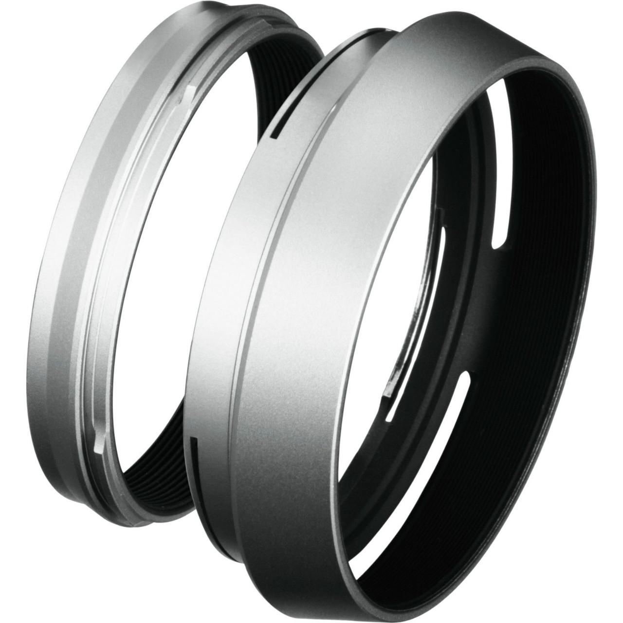 Fujifilm LH-X100 Lens Hood + Adapter Ring  (Silver)