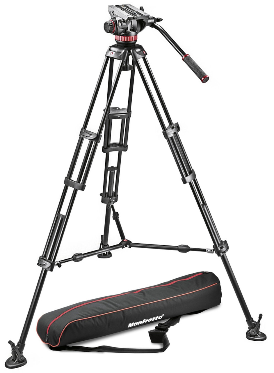 Manfrotto Tripod with Fluid Video Head - Aluminium and Sliding Plate