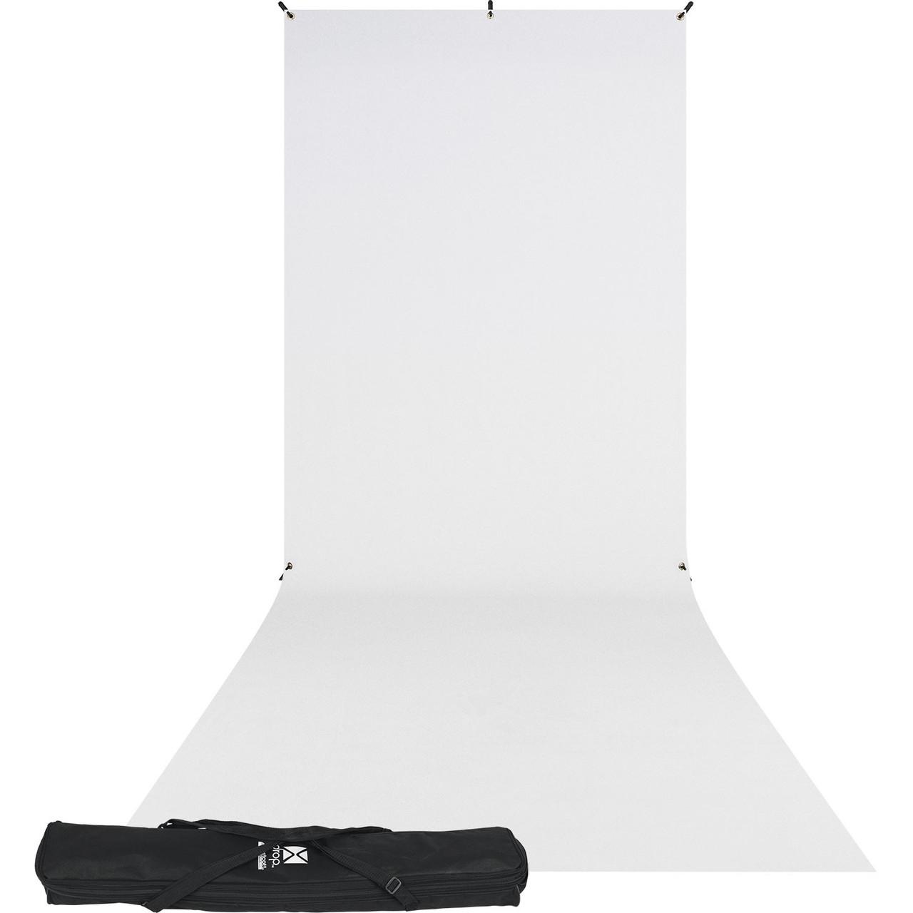 Westcott X-Drop Wrinkle-Resistant Backdrop Sweep Kit - 5' x 12' (White)