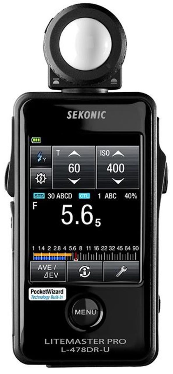 Sekonic LiteMaster Pro L-478DR-U Light Meter for PocketWizard System #401-477